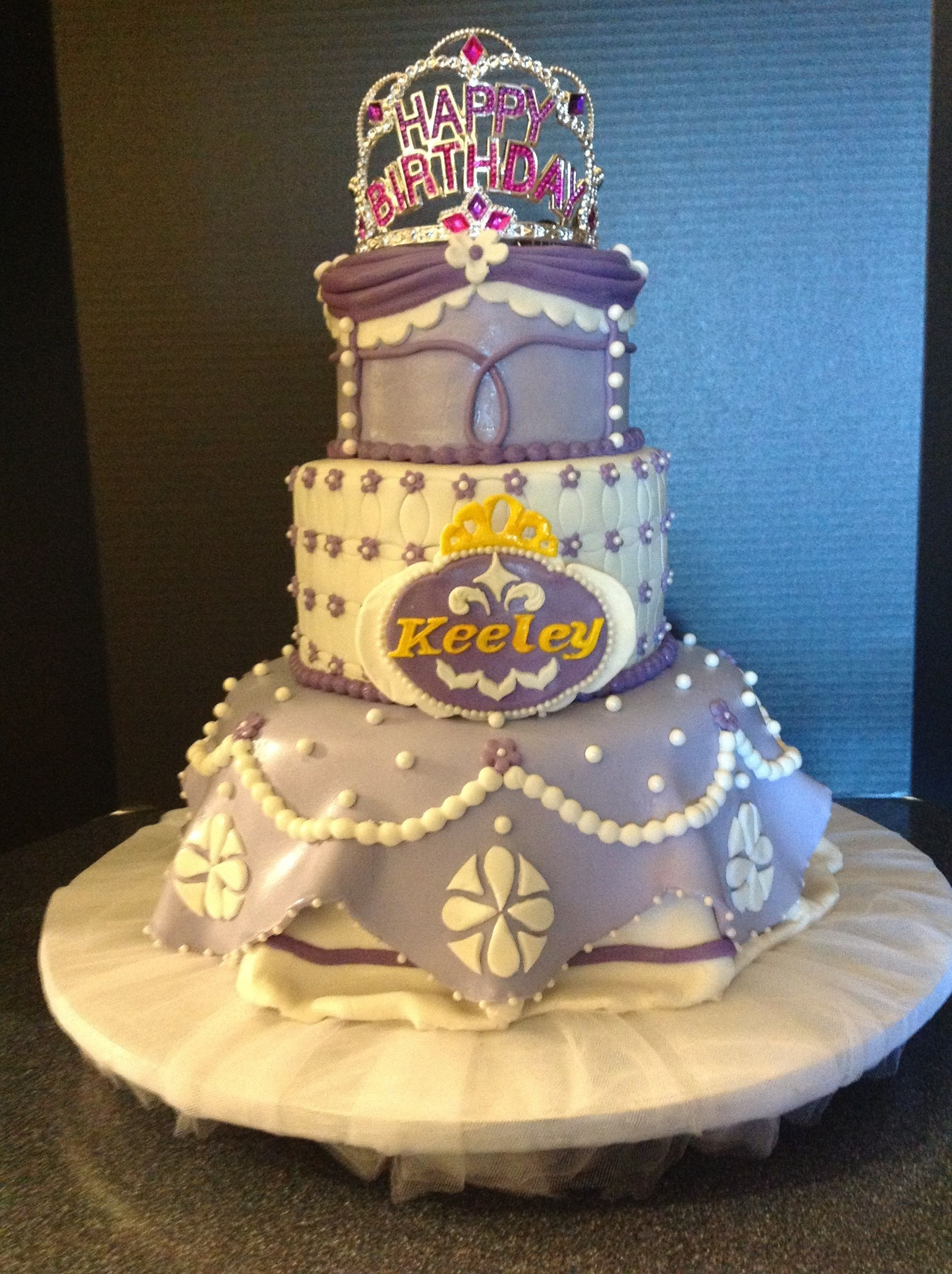 Sofia The First Birthday Cake Sofia the first birthday cake.