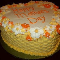 A Mom's Day Cake I Donated To A Homeless Shelter.