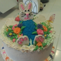 Easter   Bunny's paws and head are sugar cookies decorated with royal icing