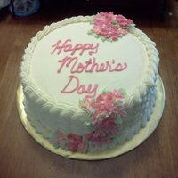 Mother's Day Cake WASC with almond buttercream filled with creamy raspberry filling :)