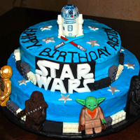 Lego Star Wars Cake handmade modeling chocolate figures