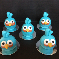 Blue Angry Birds Blue Angry Birds rice krispie treats
