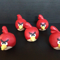 Red Angry Birds Red Angry Birds Rice Krispie Treats