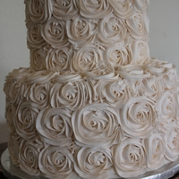Wedding Cake Buttercream, ivory rose wedding cake