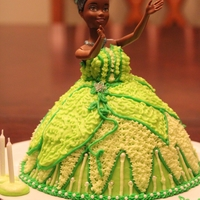 Princess Tiana Princess Cake
