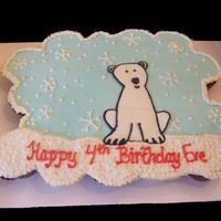 Polar Bear Birthday In April???? All BC cupcake cake. For a little girl who just had to have a polar bear birthday party in April. KIDS!!!!