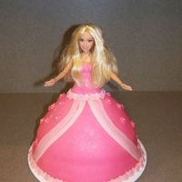 Princess Cake Covered and decorated with MMF. This is not my favorite cake. You know when it just doesn't come out the way you pictured it?