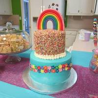 Rainbow Dash Novelle's 4th birthday cake was inspired by her favorite My Little Pony, Rainbow Dash! I loved making a sprinkle cake! So much fun and...
