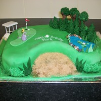 40Th Golf Cake My first attempt at a golf course