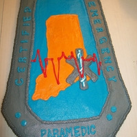 Grooms Cake: Emt Patch Indiana EMT patch that my new nephew has on his uniform