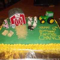 Farm Cake My first ever attempt to use fondant on anything and my first try at any animal or 3D It was a learning experience.