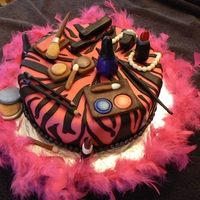 Pink And Black This was made for a 13 yr old's birthday who loves pink and make-up.