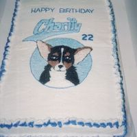 Chihuahua Birthday Cake My friend, Charity, loves her Chihuahua. So, from a snap shot I drew her little dog and I was pretty pleased with this one.
