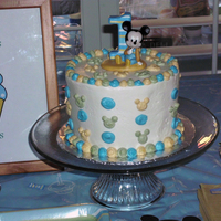 "First Birthday Smash Cake This was a for a nephews first birthday smash cake. This was a 6"", two layered cake that was Scratch Yellow WASC cake and Indydebi&#..."