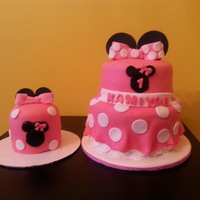 Miyahs 1St Birthday Cake With Matching Smash Cake Miyah's 1st Birthday Cake with matching Smash cake