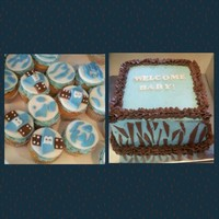 Blue Safari Baby Shower Cakecupcakes Photo Provided By My Customer Blue Safari Baby Shower Cake/Cupcakes (photo provided by my customer).