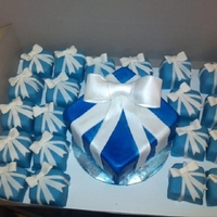 Mini Tiffany Gift Box Cakes