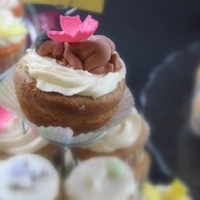 Baby Shower Cupcakes With Gumpaste Baby Used the 1st impression baby mold~