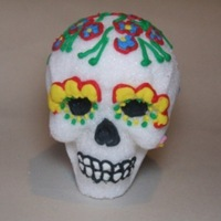 Skull Day Of The Dead skull sugar decorating white royal icing