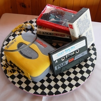Retro 80S Music Cake Had a great time making this cake! So much fun. All edible - I added a pic of the real thing beside the cake for scale! It was big! The...