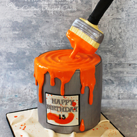 A Painter's Cake I loved doing this cake, until my brush broke on me a couple of times. Thank goodness a little melted chocolate fixes everything. Cake is...