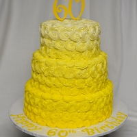 Ombre!   60th surprise cake for a lady who loves yellow