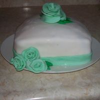 Very First Cake.. i have naevr taken a class,i just learned about fondant the day i made this one,so i tried it,not tht great but i was escpecially proud of...