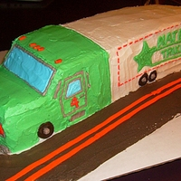 Big Rig Cake My 1st attempt at a 'Big Rig' cake for a child's birthday. All decorating done with butter cream. Thanks for looking!