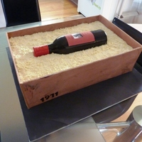 Wine Bottle Cake Made this cake for my brother-in-laws birthday.Choc cake with fondant bottle and white choc shavings.Thank you so much to sillywabbitz for...