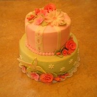 The Hummingbird Garden   WASC cake with almond buttercream and fondant accents. Made for a flower and hummingbird lover!