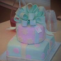 Birthday Present Cake Fondant bow and accents
