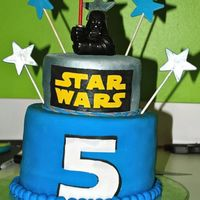 Star Wars Non edible topper and stars