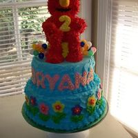 Elmo Cake  I used some ideas from PunkyF (thanks)..I also used the Elmo tutorial posted here by fairy cakes. (thanks to you too)..Royal icing over...