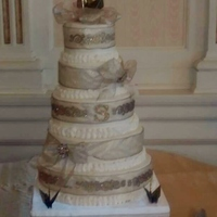 This Is How I Decorated My Daughters Wedding Cake In My Hotel Suite Other Than The Joint Between The Layers I Had Prepared Ribbons To W This is how I decorated my daughter's wedding cake in my hotel suite. Other than the joint between the layers, I had prepared ribbons...