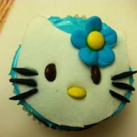 Hello Kitty! My daughter turned 8 on Friday and I attempted to make her blue hello kitty cupcakes cause blue is her favorite color! The kitty and...