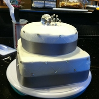 Bridal Shower Cake My soon to be daughter-n-law wanted a simple cake and loves diamonds so this is what I came up with for her!!