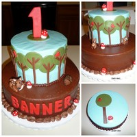 Woodland Birthday Made to coordinate with party invitations.