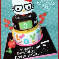 Back To School Hello Kitty Back to School Hello Kitty Cake for a 3rd birthday party.