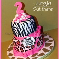 Pink Animal Print Birthday Cake Pink Animal Print Birthday Cake