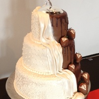 Bride And Groom Wedding Cake Bride and groom wedding cake.
