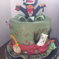 This Was A 50Th Birthday Cake For A Theatrical Hat Fanatic So I Made A Figure Of Him Jumping Out Of The Mad Hatter Cake Wearing A Cat In *This was a 50th birthday cake for a theatrical hat fanatic. So i made a figure of him jumping out of the Mad Hatter cake, wearing a Cat in...
