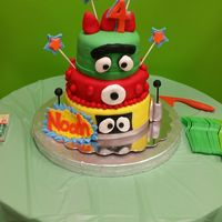 Yo Gabba Gabba   Chocolate cake with Vanilla BC. Fondant covered