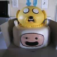 Adventure Time Cake This was a red velvet cake with cream cheese frosting covered in MMF.