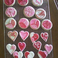 Valentine Day Cookies These are sugar cookies with royal icing. Thanks for looking