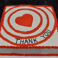Target Love Cake white cake with buttercream frosting