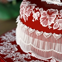 Ruby Cake   Tis is a dummy cake I made just for practise some piping techniques :)TFL