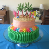 Hawaiian Luau Cake Hawaiian Luau cake inspired by several cakes on this site.