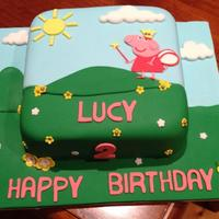 2D Peppa Pig 2Nd Birthday Peppa Pig themed cake for my daughters 2nd birthday. Ganached and fondant, gunpaste and fondant embellishments