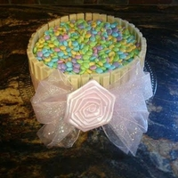Girly Chocolate M&m Kitkat Cake