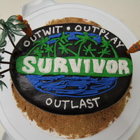 "My Niece's ""survivor"" Cake My little niece loves Survivor. She wanted her cake to have some logo of theirs on it. I quickly threw this together. Not the cleanest work..."